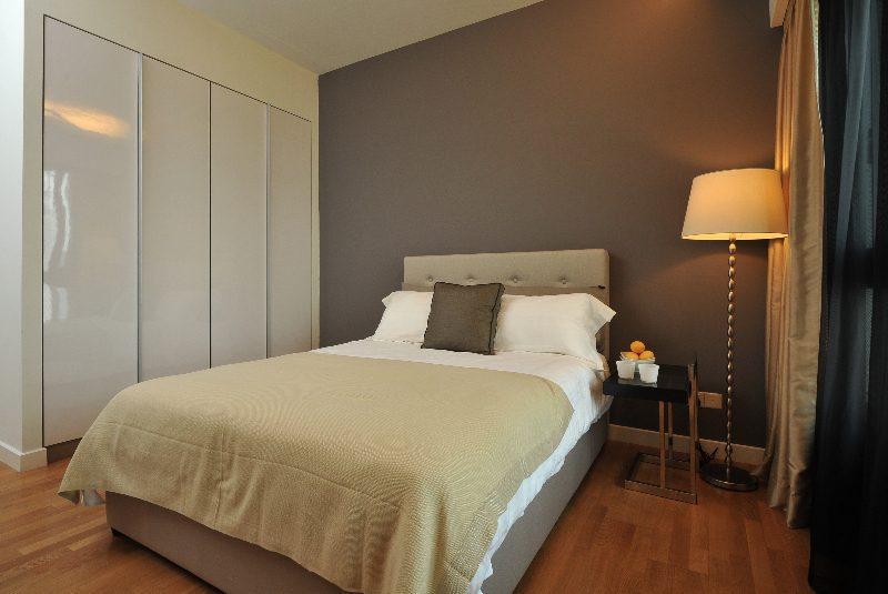 Minimalist bedroom design in Seni Mont Kiara, Kuala Lumpur
