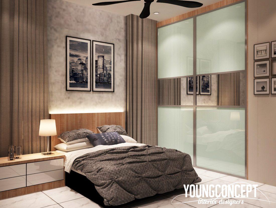 white bedroom design in old klang road