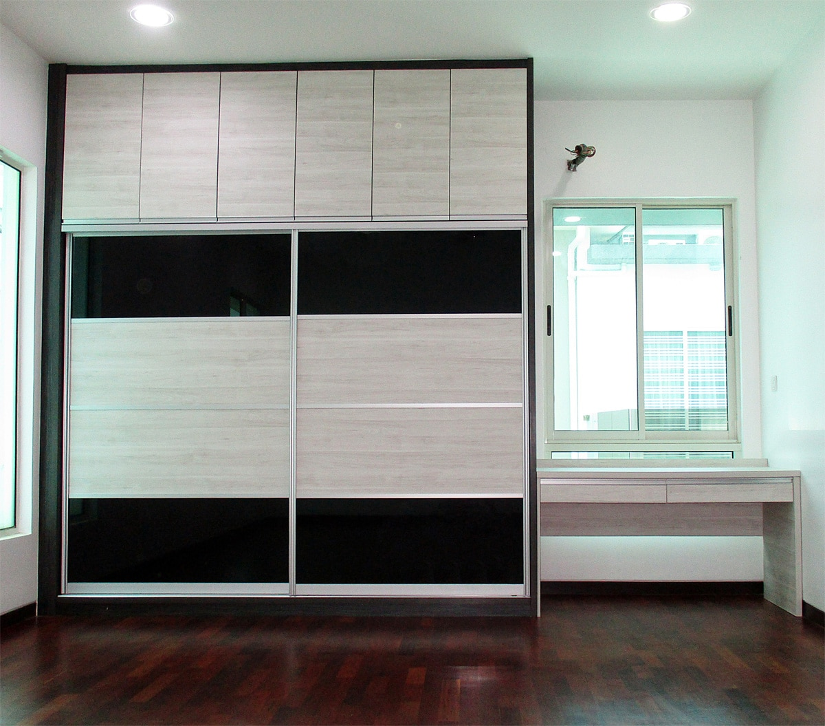 above example of pre designed sliding door wardrobe 8 ft width x 10 - Built In Wardrobe