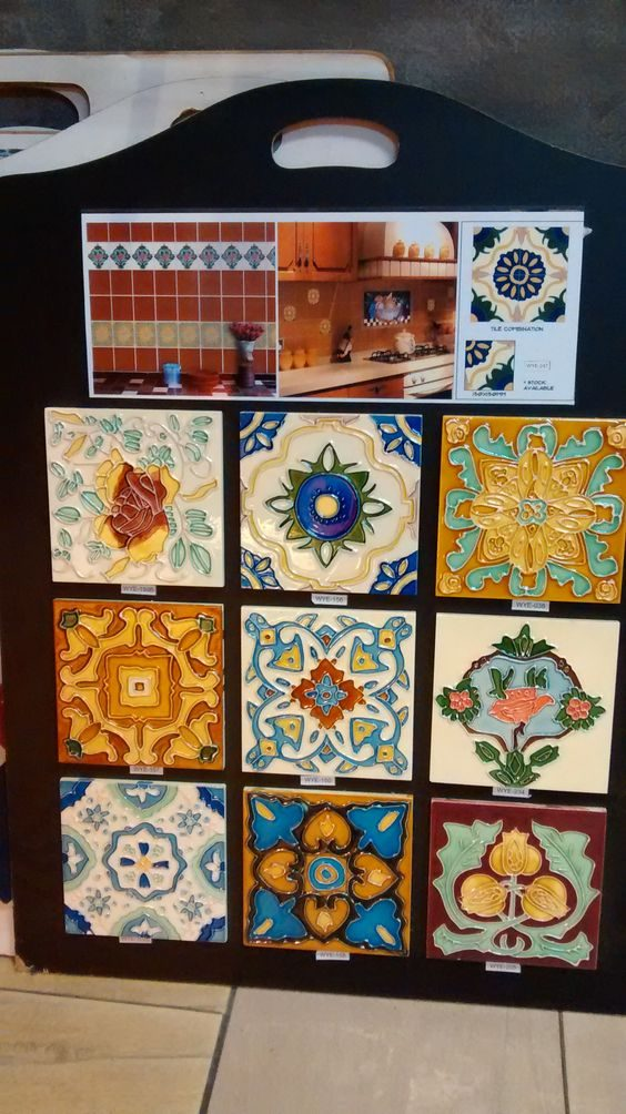 Sample catalogue of decorative painted, or majolica tiles. Commonly used in Peranakan homes. Source