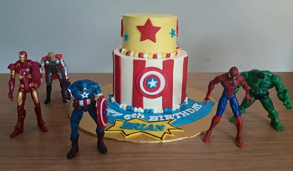 Superhero birthday cake by My Fat Lady Cakes and Bakes Singapore