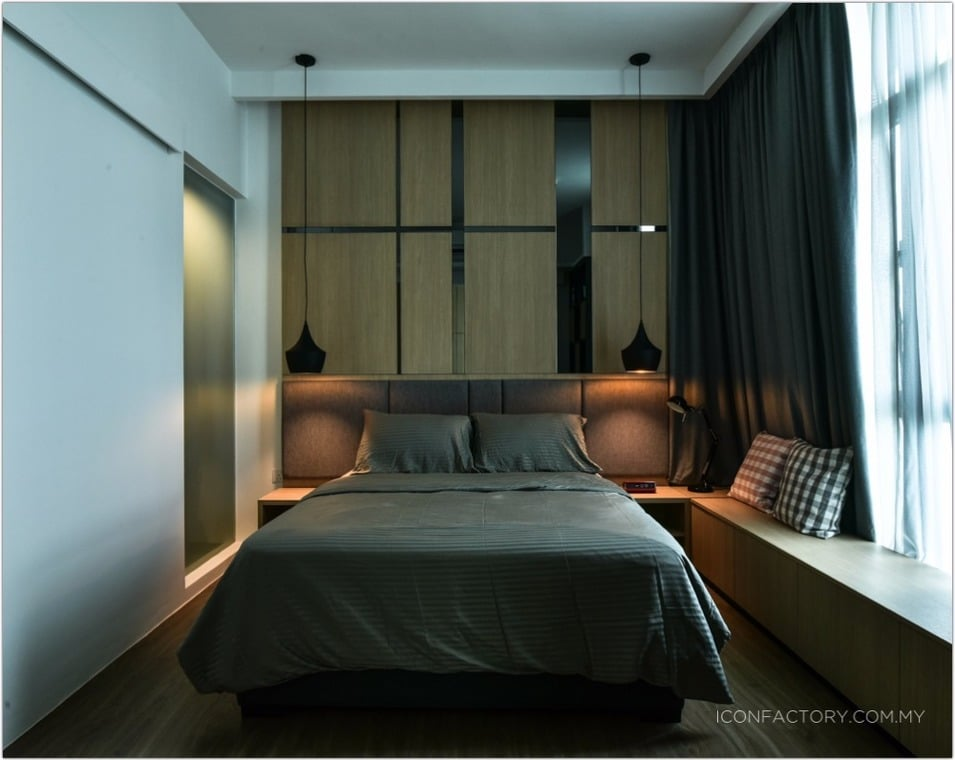 Small bedroom design for condominium in Tropicana Avenue done by Icon  Factory. How to create more space in your small bedroom   Recommend LIVING