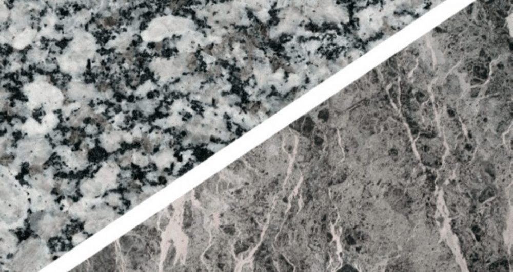 Appearance of granite vs marble