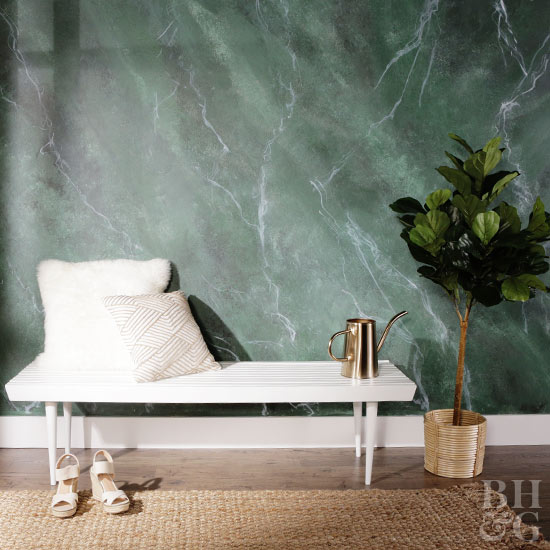 Faux Marble Painting Is One Of The Many DIY Wall Ideas Thats Relatively Inexpensive Yet