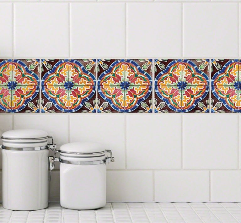 wallpaper stickers that can be applied on your kitchen tiles