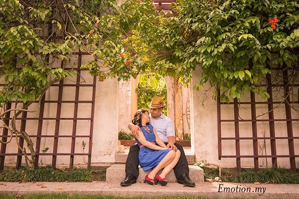 pre-wedding photos, perdana lake gardens