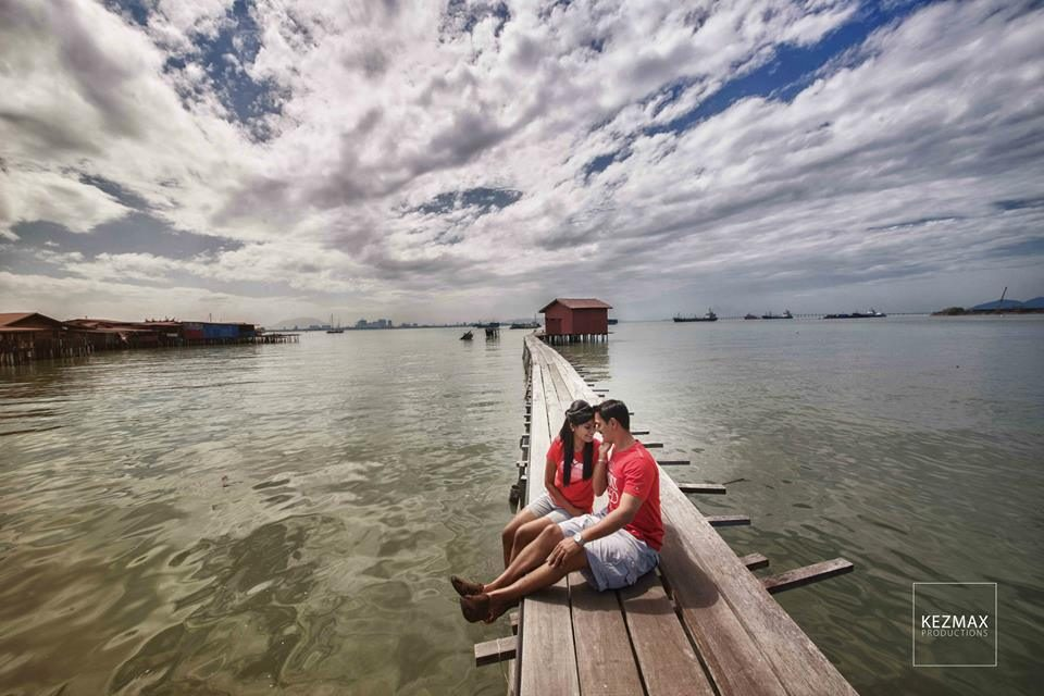pre-wedding photos, tan jetty