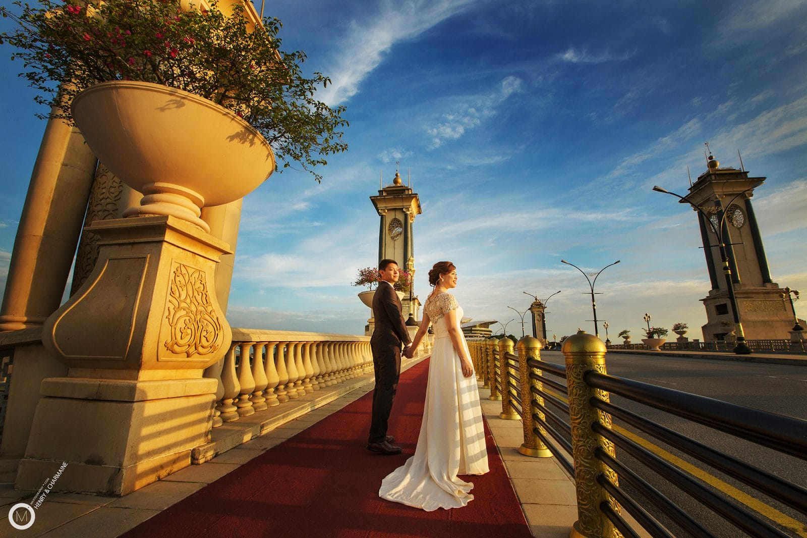 pre-wedding photos, seri germilang bridge