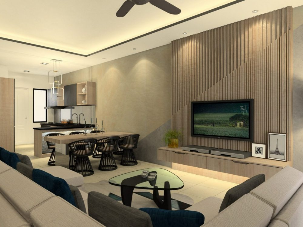 Elmina Valley 1 Shah Alam interior design package living room by Recommend.my