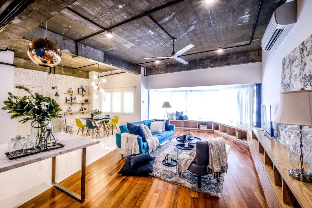 Above: Kitsch industrial interior design style for apartment in Bangsar
