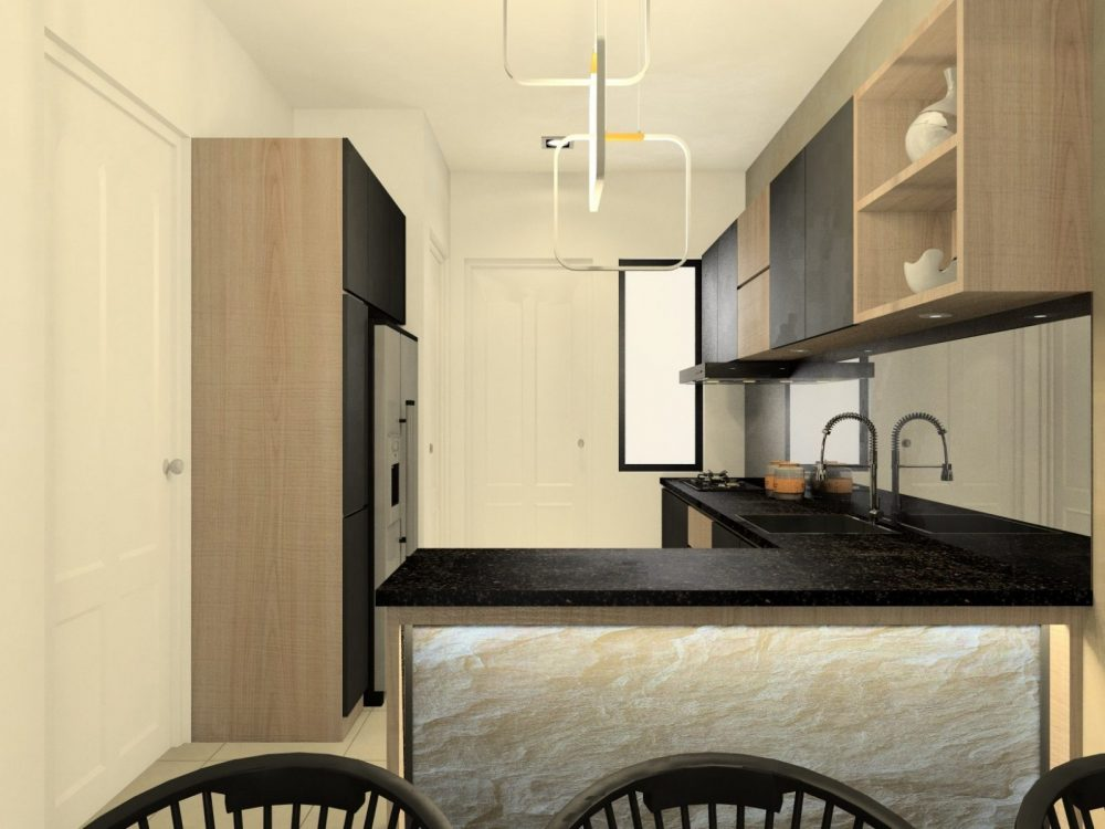 Elmina valley 1 kitchen interior design package by Recommend.my