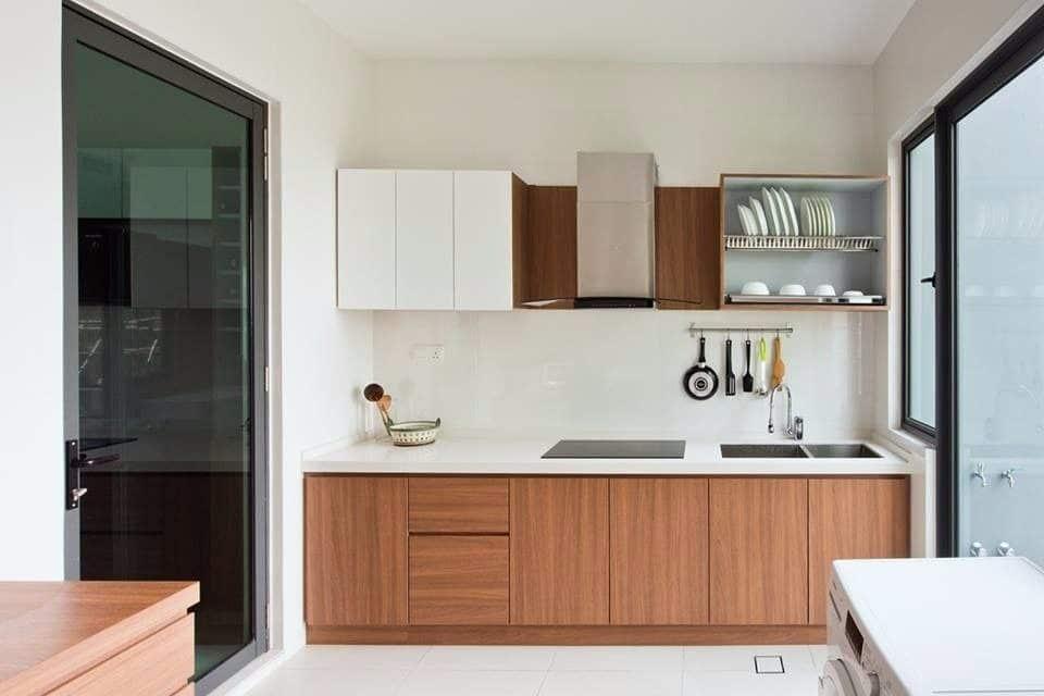 Minimalist kitchen design for semi-d in Cyberjaya by Pocket Square