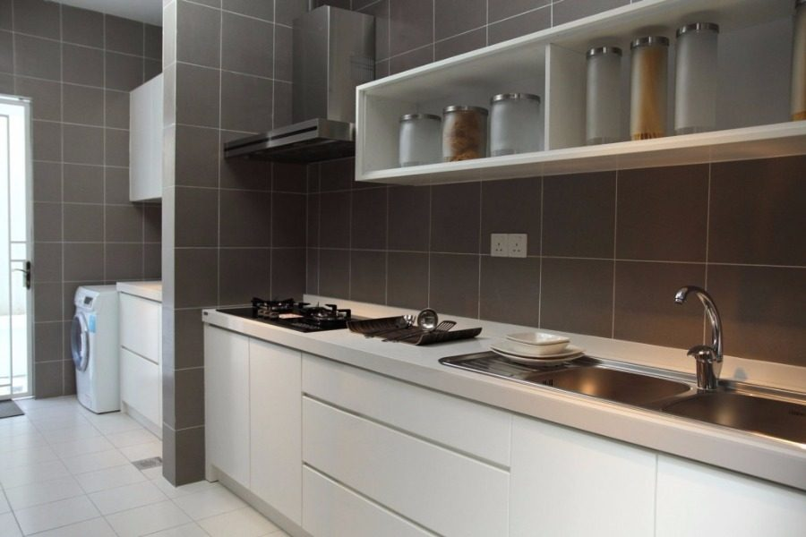Above: Wet kitchen design for Semi-d in Sutera Damansara by Nice Style