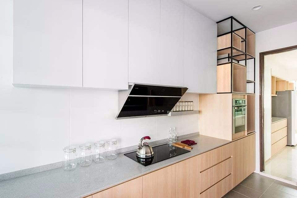 Minimalist kitchen design for condo in Cyberjaya. By Pocket Square