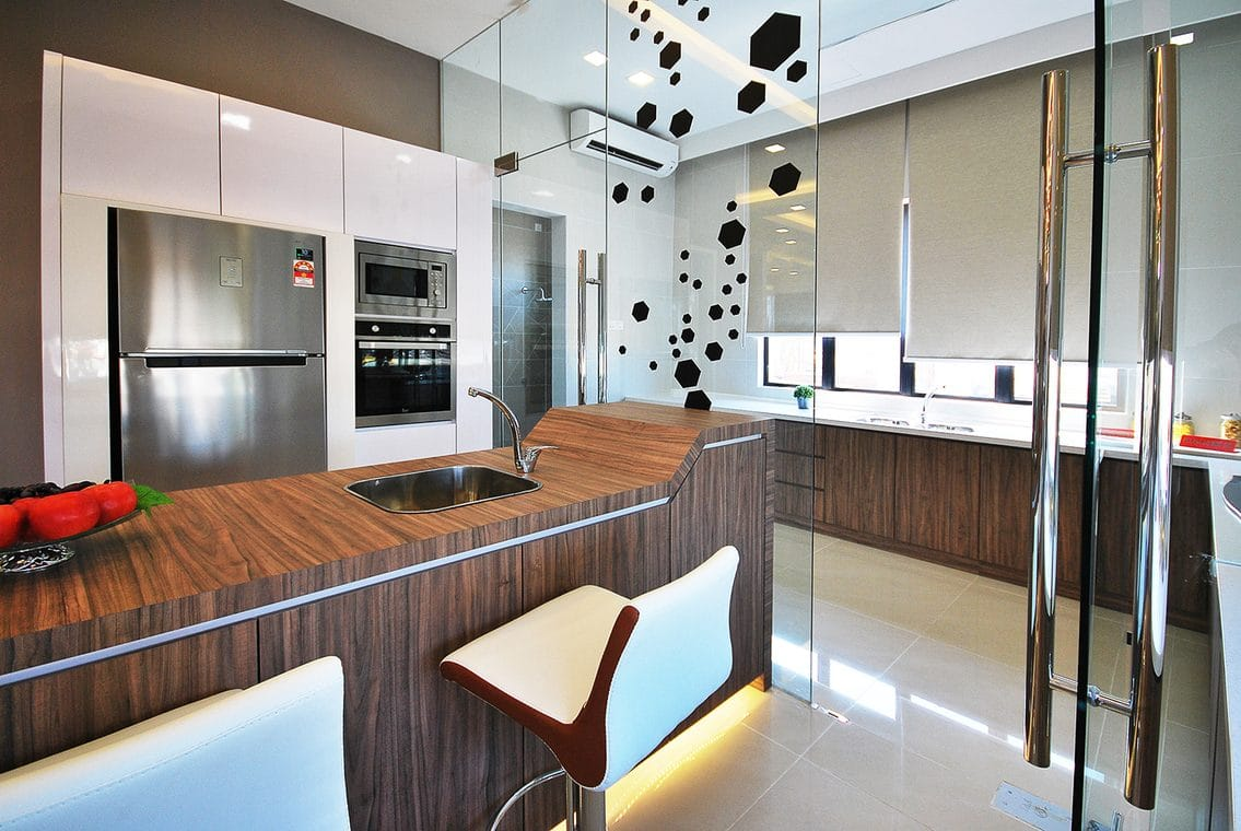 Wet And Dry Kitchen Design For Home In Ipoh