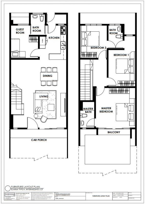 Elmina Valley 1 Shah Alam two storey link house floor plan by Recommend.my