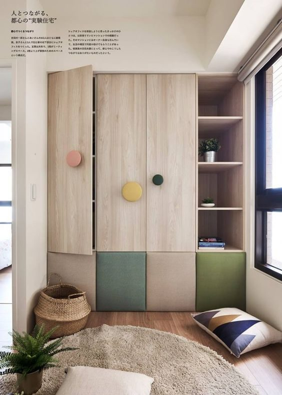 Kids wardrobe with padded doors