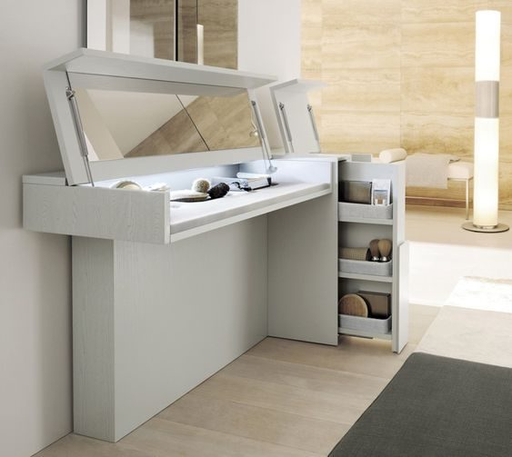 And Study Tables For Your Small Bedroom, White Dressing Table With Built In Mirror