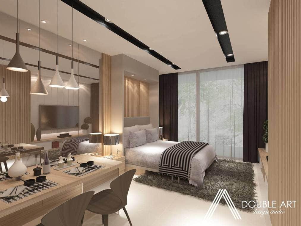 441 sq ft studio interior design for Nadi Bangsar, Kuala Lumpur