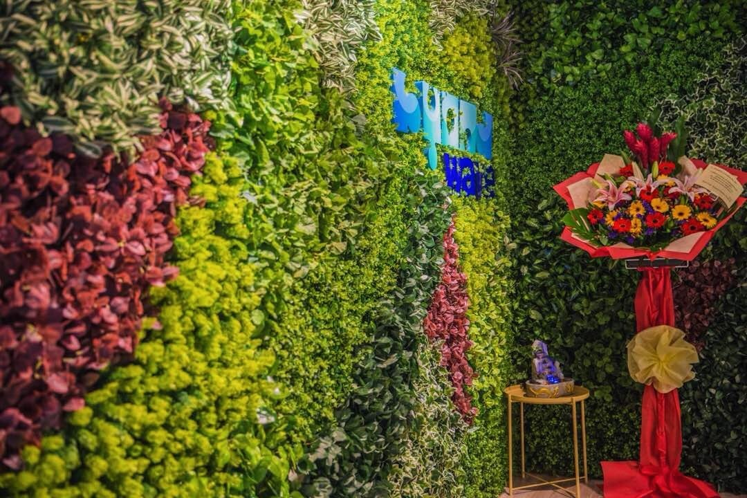 Vertical garden at the reception area of ByondWave office. Source: EzyOffice