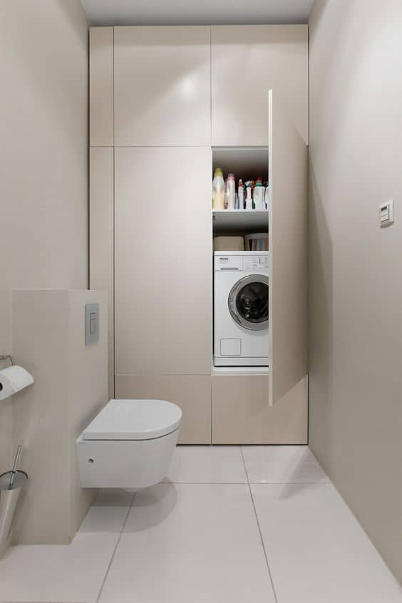 Small Bathroom-Laundry Ideas For Your Home | Recommend.my on Small Space Small Bathroom Ideas With Washing Machine id=26381