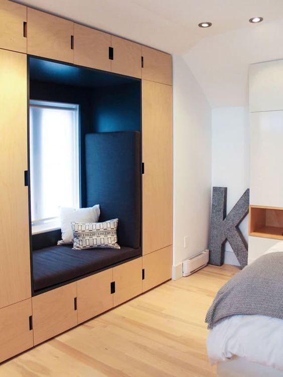 Bay window storage ideas