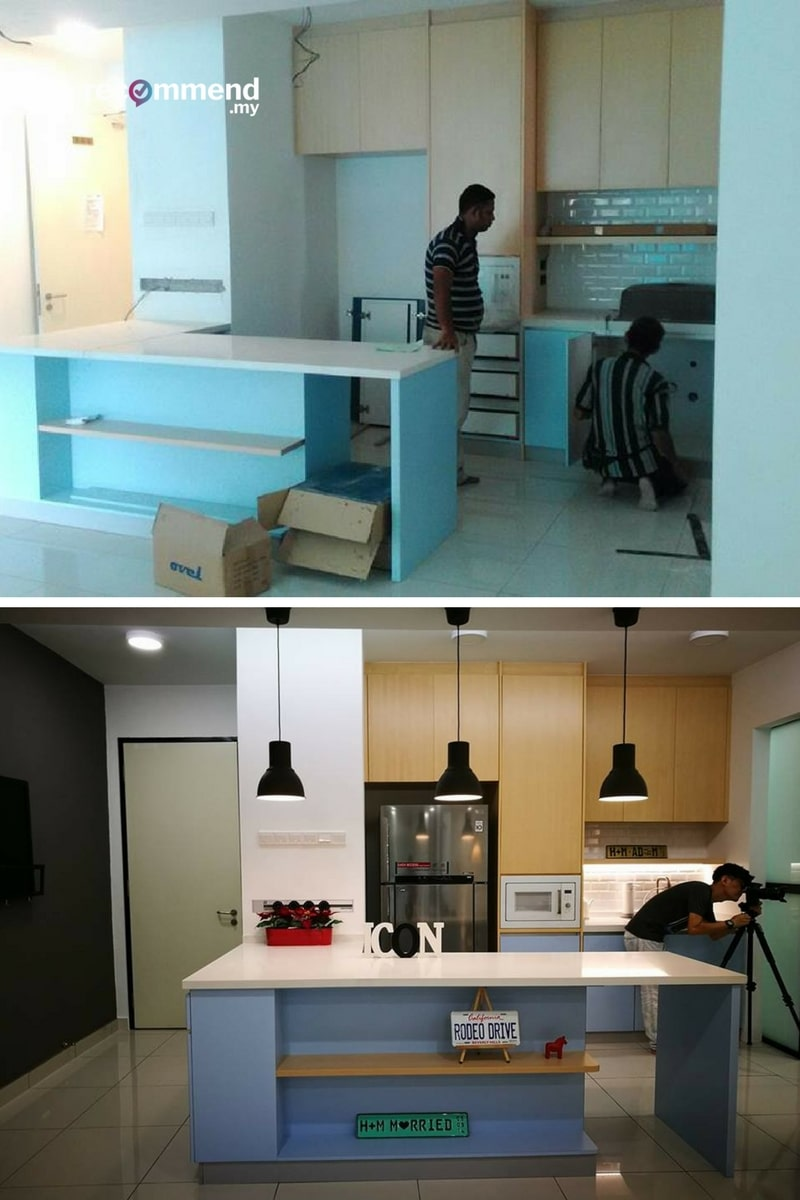 Before After Kitchen Renovation In Malaysia | Recommend LIVING