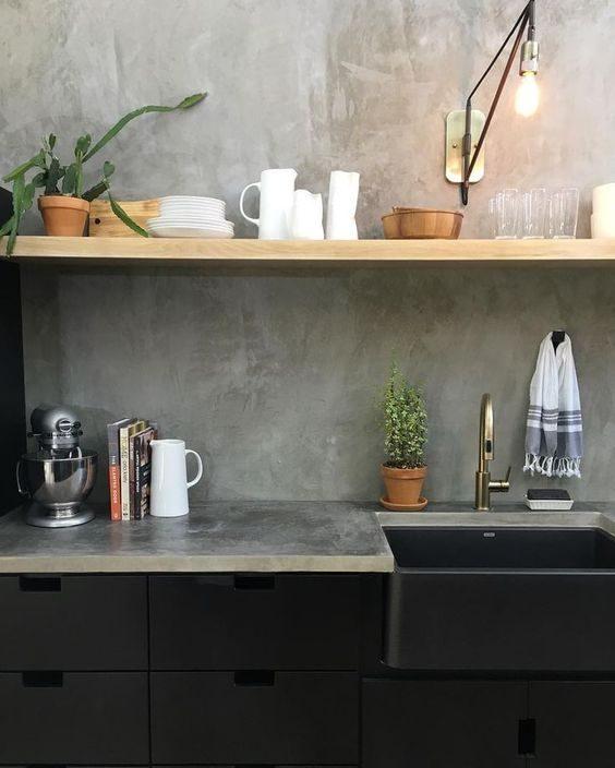 Concrete interior design