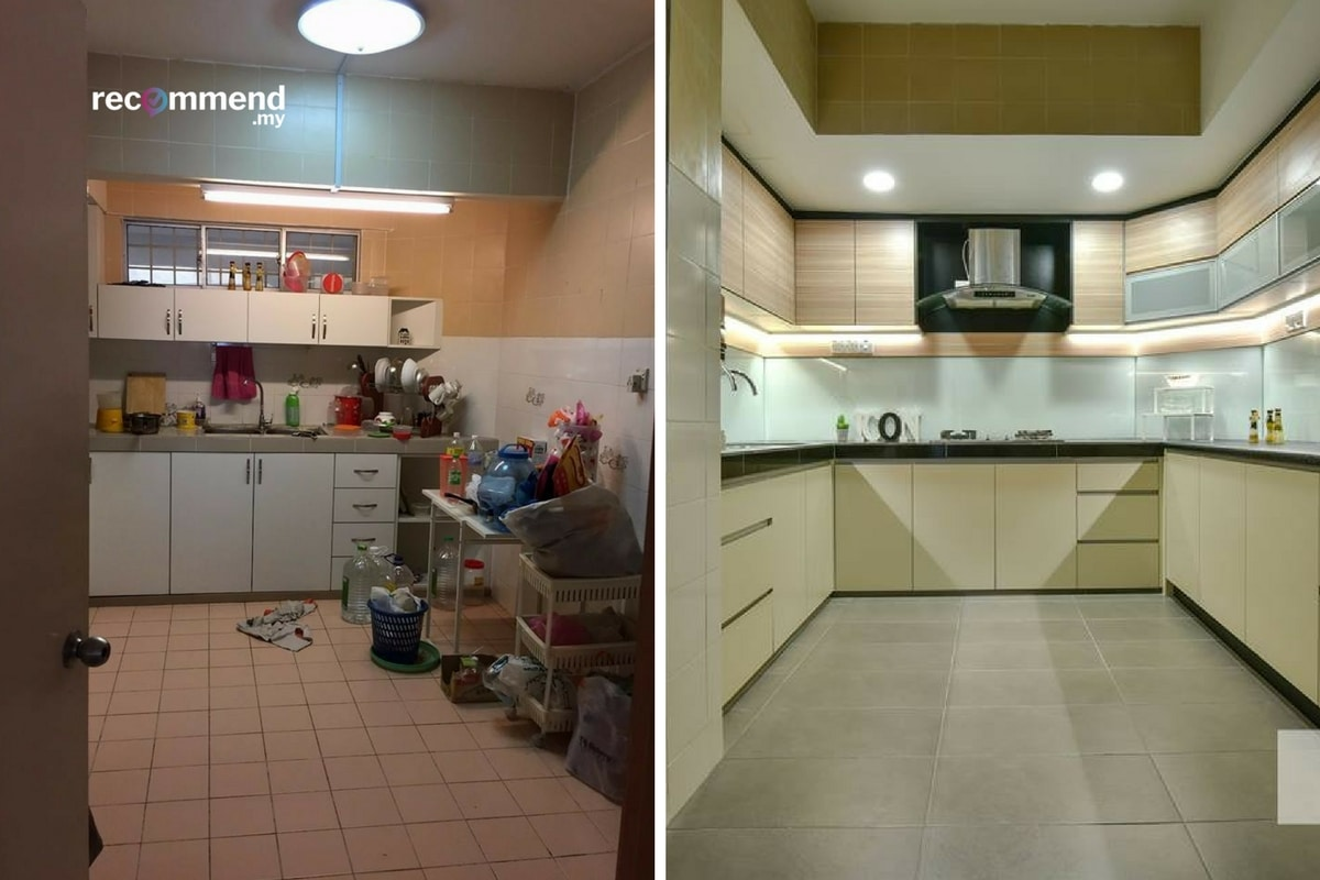 The most popular kitchen renovations in Malaysian homes