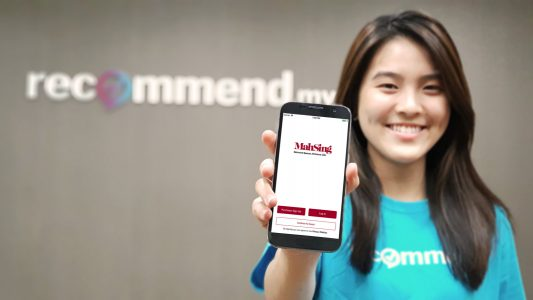 Mah Sing homeowners can now request Recommend.my home services through their mobile app