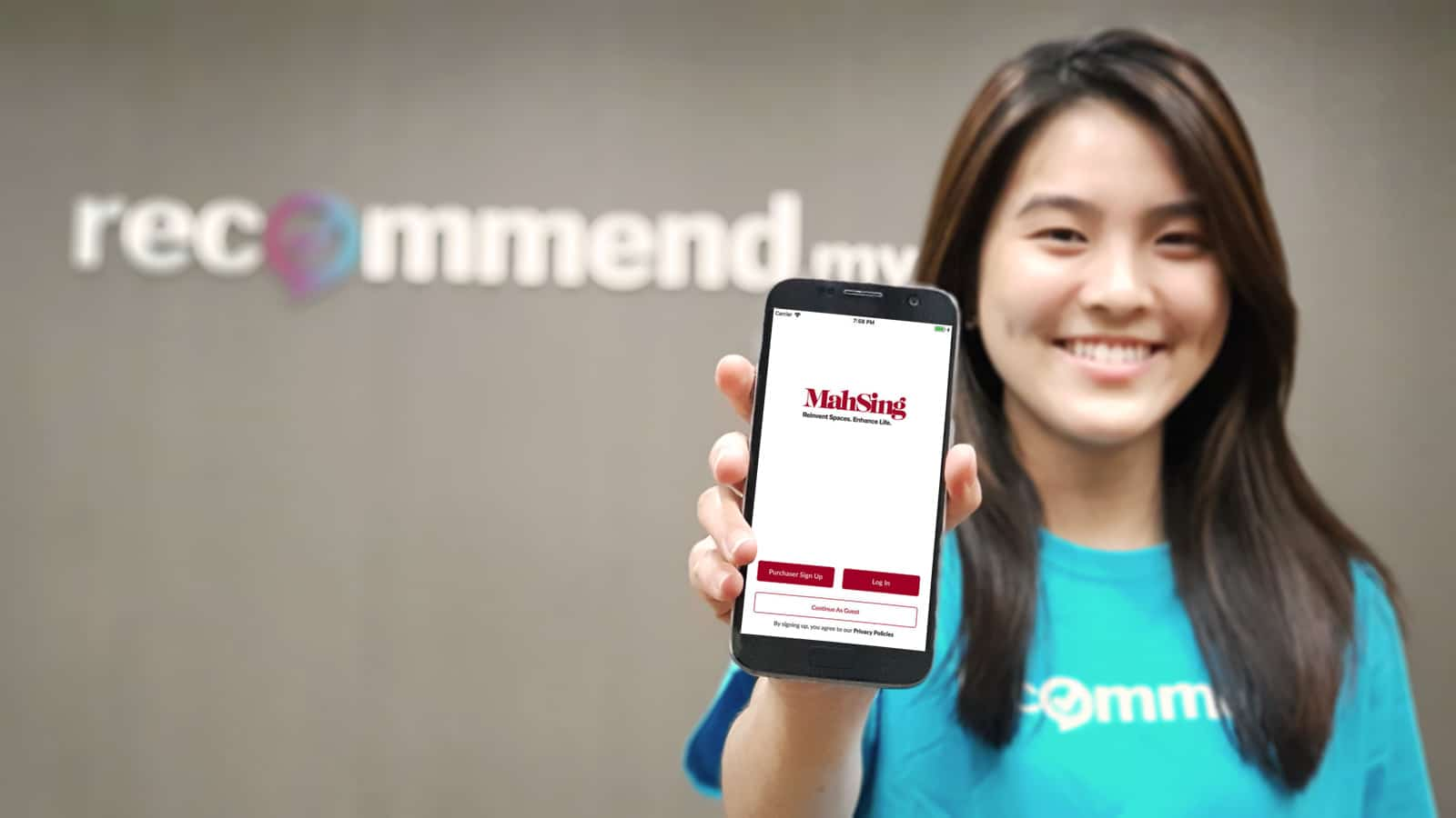 "Now you can request home improvement services directly from the ""MY Mah Sing"" Mobile App"