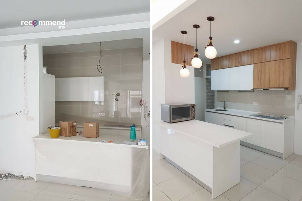 Inspiring Before After Kitchen Renovations