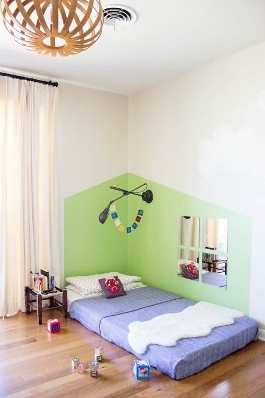 wall painting ideas for a toddler corner
