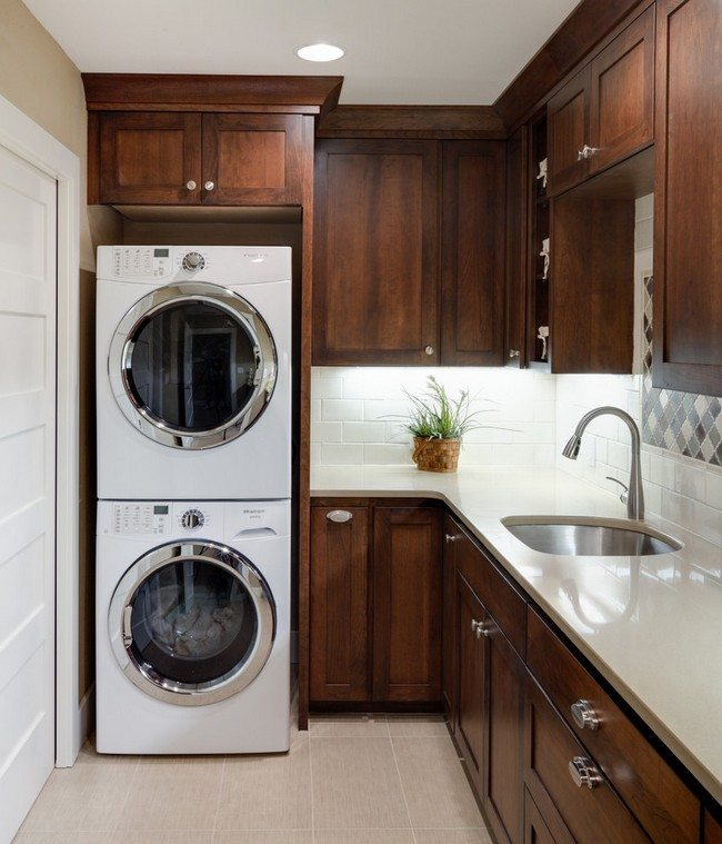 Laundry Room Ideas Small Stackable Shelves