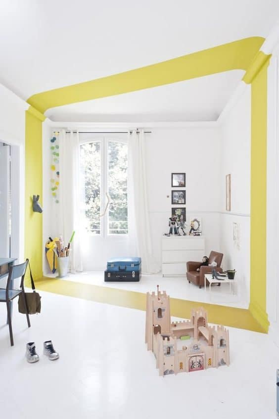 colour blocking wall painting ideas