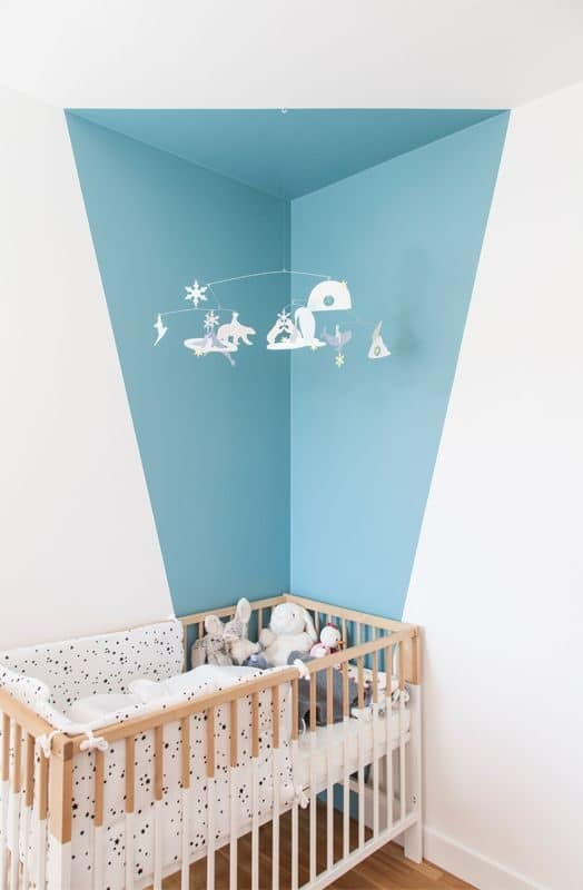 corner wall painting ideas for nursery rooms