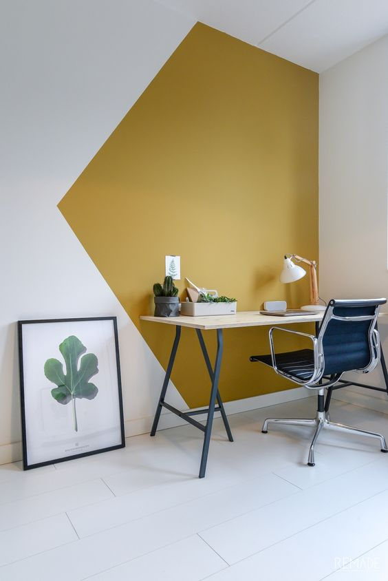 wall painting ideas for an inspirational workstation