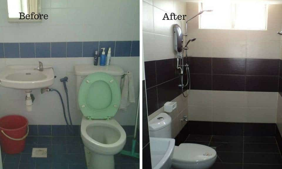 Bathroom tile replacement at Bukit OUG, Bukit Jalil