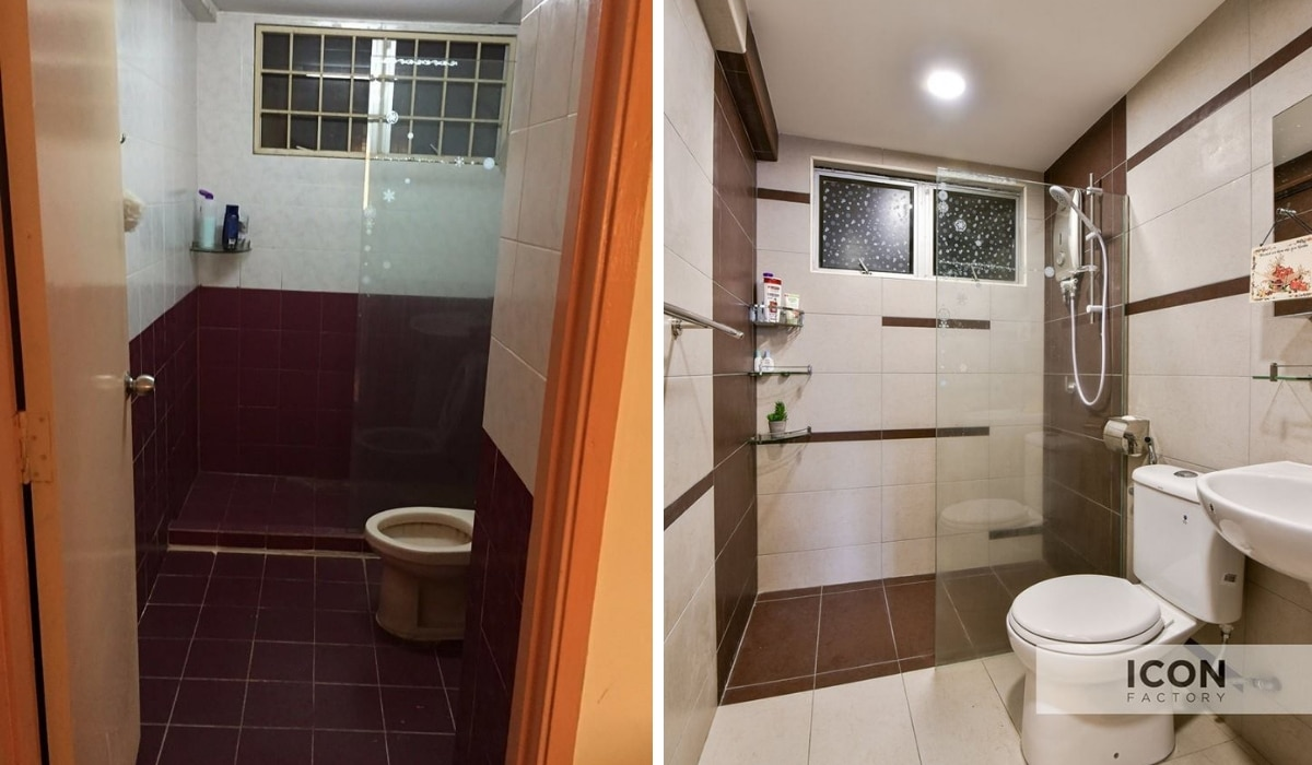 Updated bathroom tiles at Shang Villa - Kelana Jaya