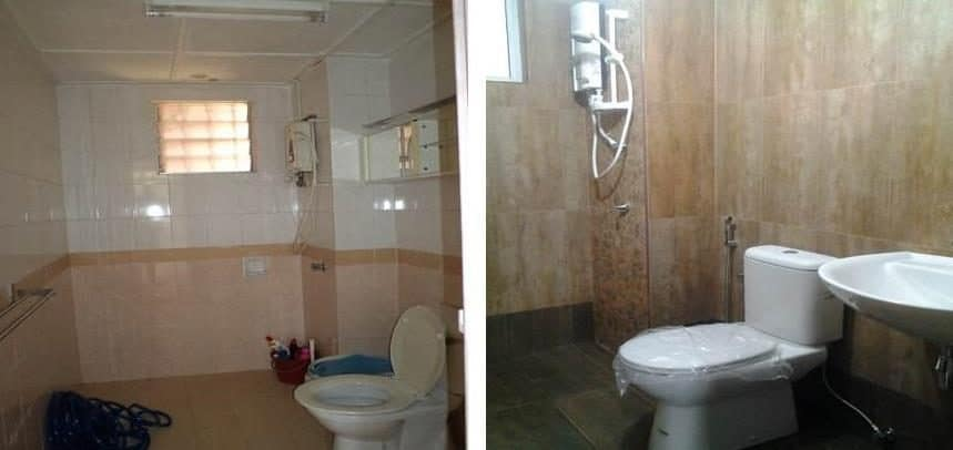 Bathroom retiling at D'Shire Villa Kota Damansara