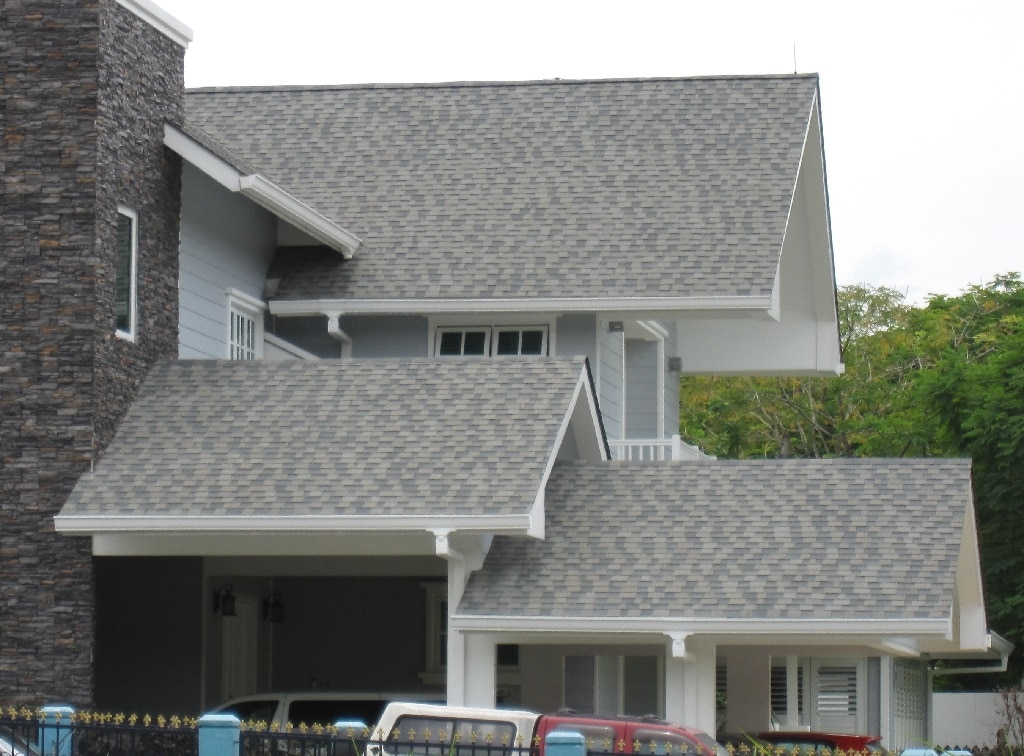 Asphalt roof shingles used at a private bungalow in Bangsar.