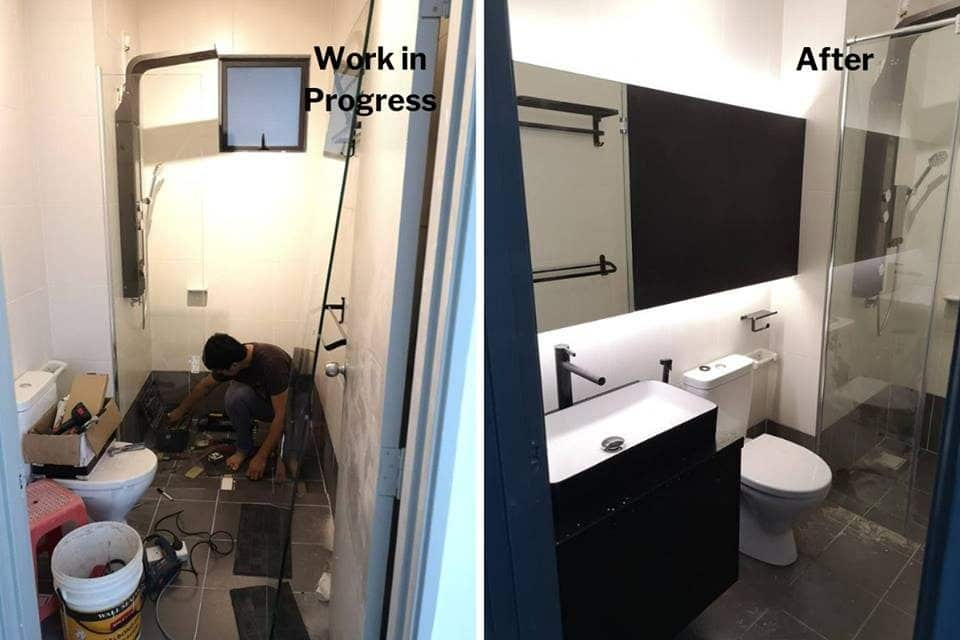 Toilet renovation in USJ One Park Condo