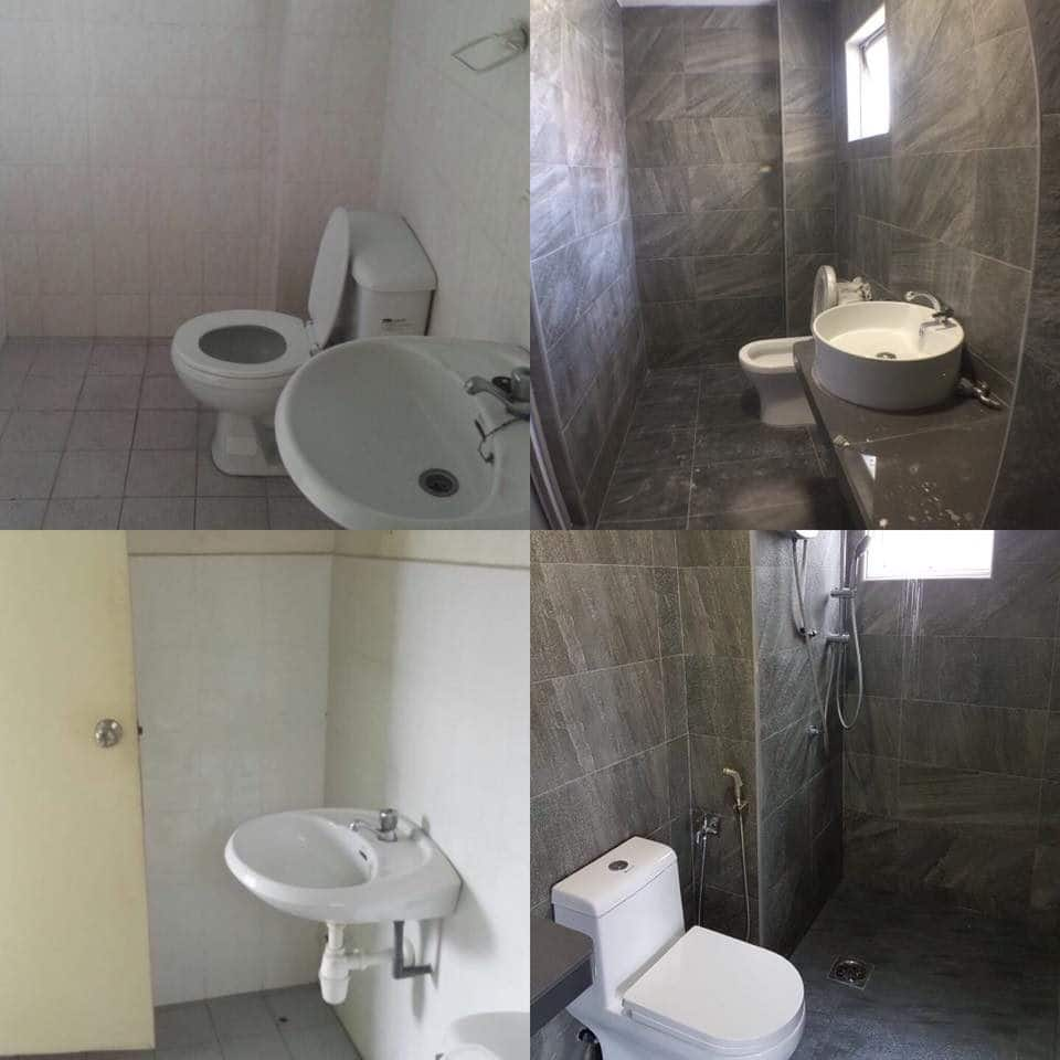 Bathroom makeover in Jalil Damai apartment
