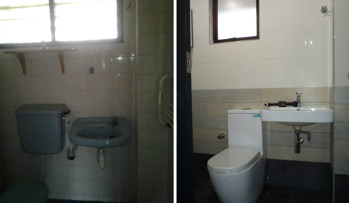 Replace bathroom tiles and fixture at USJ 3 Subang Jaya