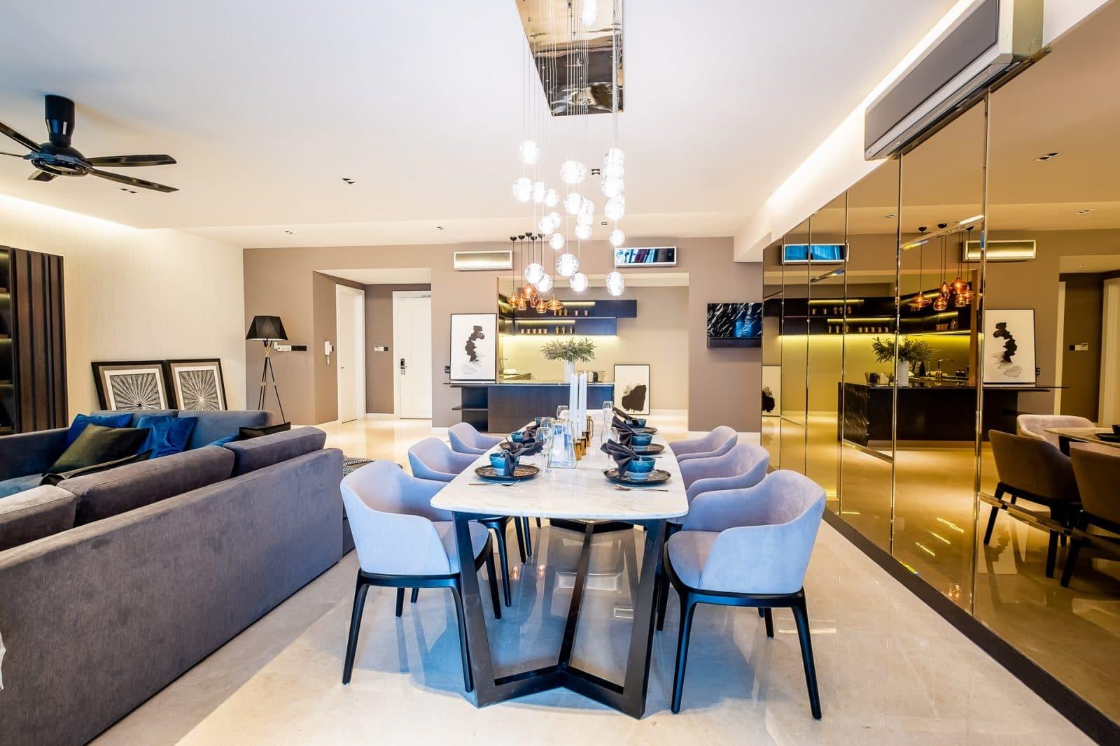 modern apartment design in seni kiara