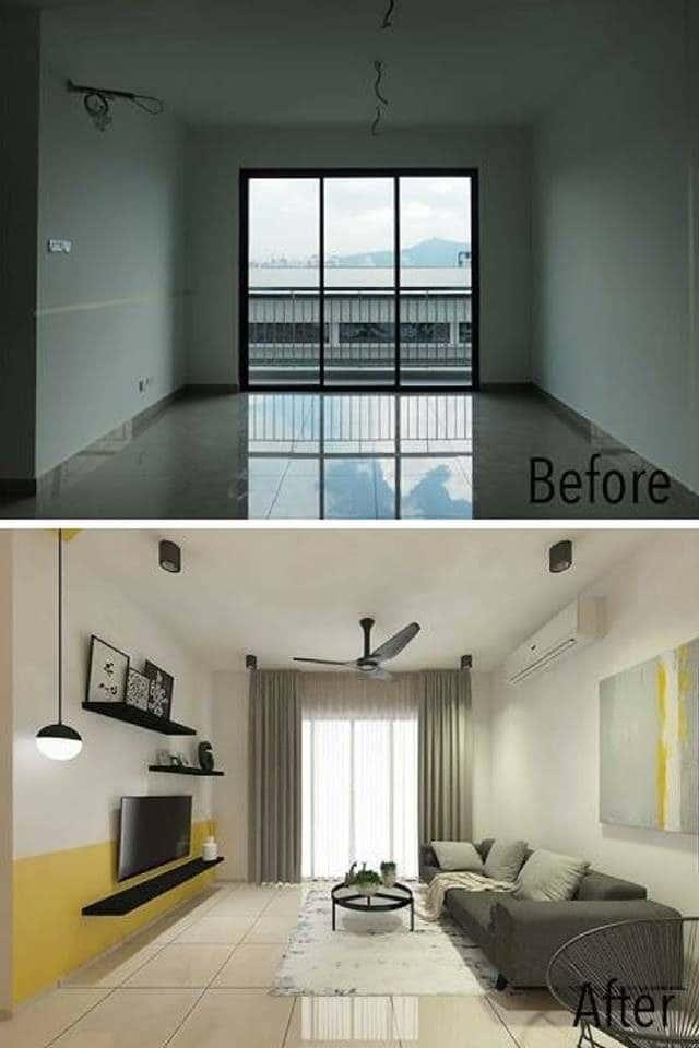 Living room interior design malaysia by Interior Hunters