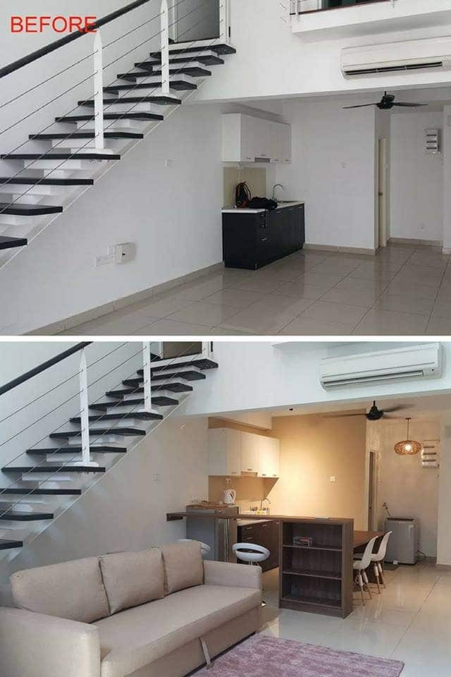 Apartment renovation in Scott Garden, Jalan Klang Lama by Ideal Plus Design
