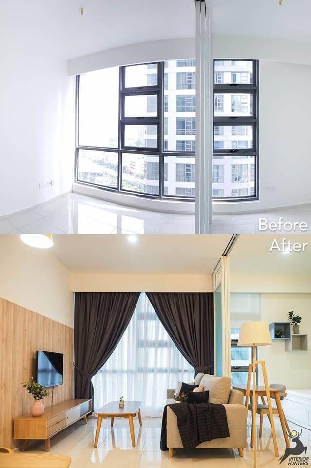 689 sq ft condo interior design in the Robertson Residences Bukit Bintang by Interior Hunters
