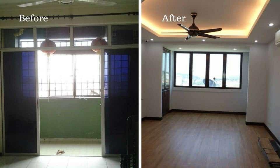 Condominium balcony renovation in Bukit OUG by ML Engineering Construction