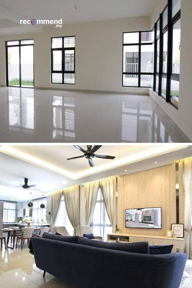 Semi-d interior design in Southville City, Bangi by R.Works